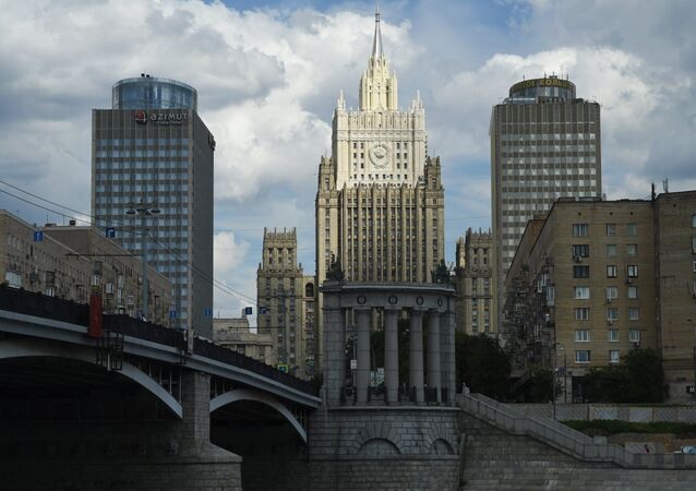 The Russian Foreign Affairs Ministry building in Moscow