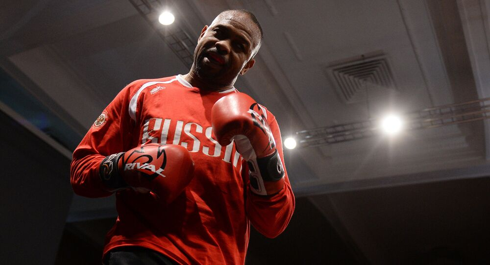 Boxer Roy Jones Jr. during training before his upcoming fight with boxer Enzo Maccarinelli in Moscow. (File)