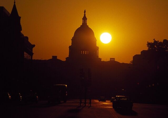 Capitol Washington sunset
