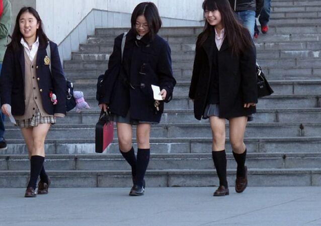 High school girls in Japan