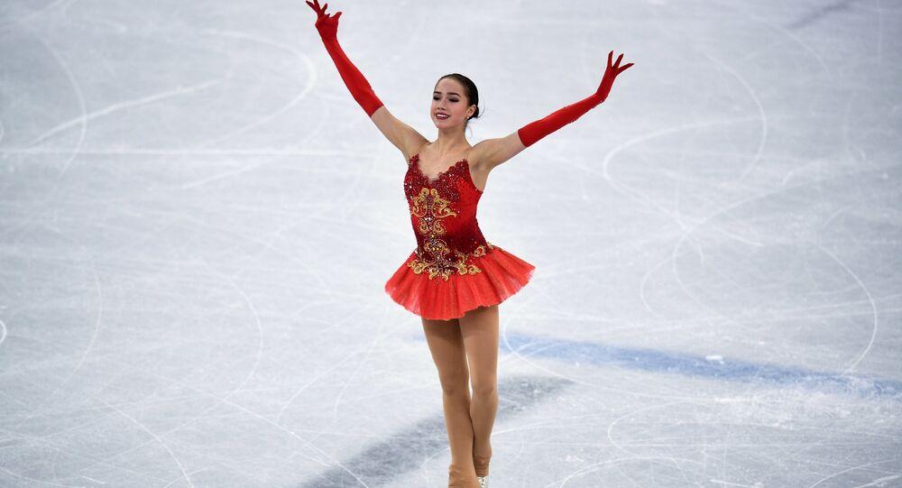 Russian figure skater Alina Zagitova's free program at 2018 Winter Olympics