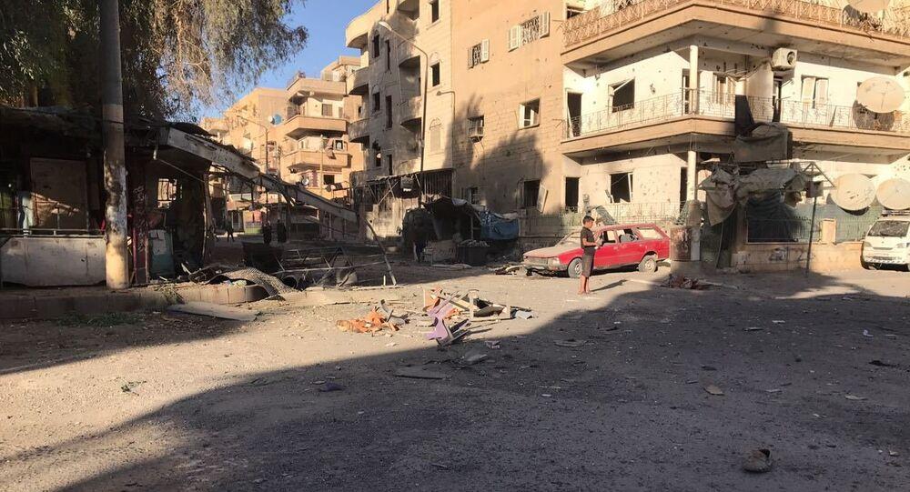 Aftermath of artillery attacks on Al-Qusur in Deir ez-Zor. File photo