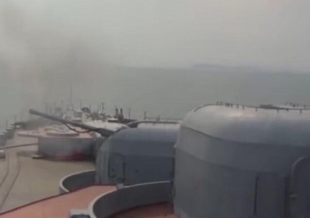Russian Rocket Tests in Sea of Japan