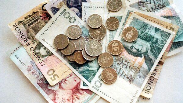 Different Swedish bank notes and coins. (File) - Sputnik International
