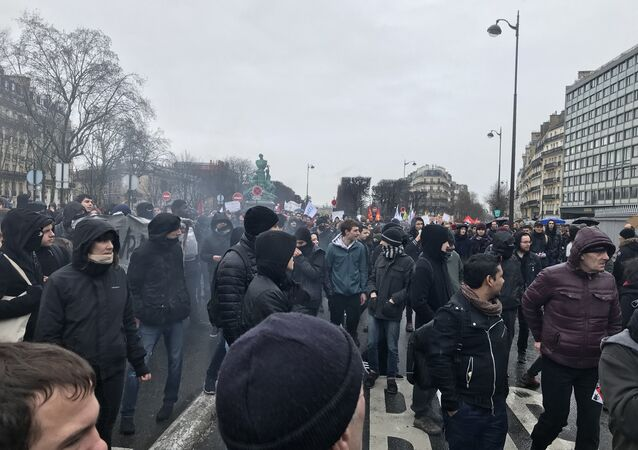 High school students take part in a rally to protest against a proposed reform of the Baccalaureat (France's high school diploma)