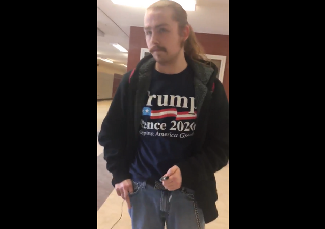 Wayne State University student Corbin Steele is suspended following altercation with student organizers
