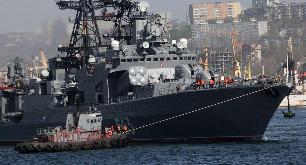 The large anti-submarine ship Marshal Shaposhnikov. File photo