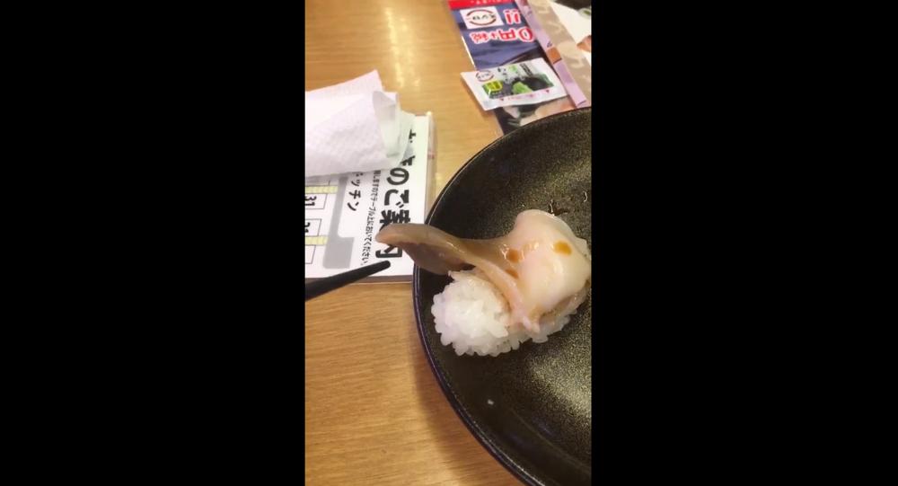 Customer in Japan gets sushi that's still moving