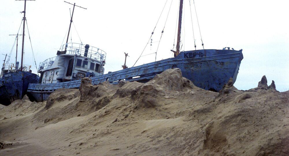 Former Fishing Fleet of Aral Sea (File)