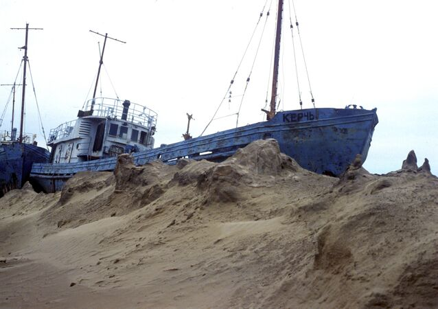 Former Fishing Fleet of Aral Sea (File)