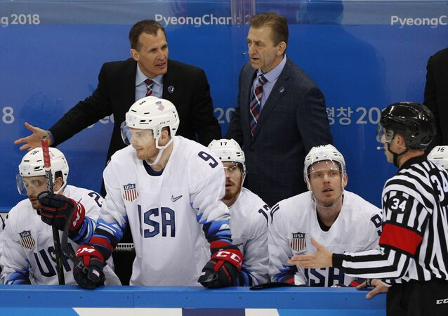 US ice hockey national team's head coach Tony Granato (L). File photo