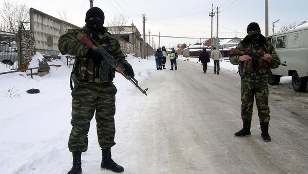 Special forces' soldiers on an anti-terrorist operation , Dagestan (File) - Sputnik International