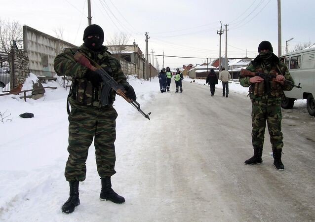 Special forces' soldiers on an anti-terrorist operation , Dagestan (File)