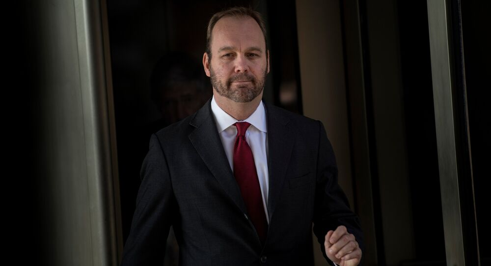 Former Trump campaign official Rick Gates leaves Federal Court on December 11, 2017 in Washington, DC. In October, Trump's one-time campaign chairman Paul Manafort and his deputy Rick Gates were arrested on money laundering and tax-related charges