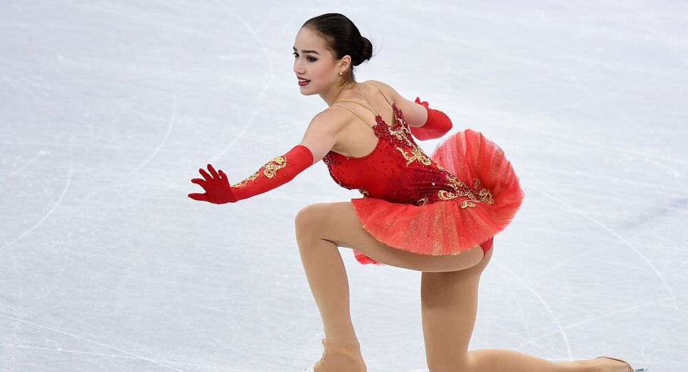 Olympic Athlete from Russia Alina Zagitova performing her free program during the women's team figure skating competition at the XXIII Olympic Winter Games in Pyeongchang