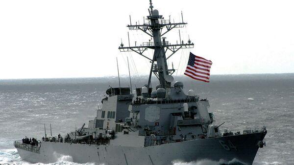The US Navy (USN) Arleigh Burke Class Guided Missile Destroyer USS CARNEY (DDG 64) - Sputnik International