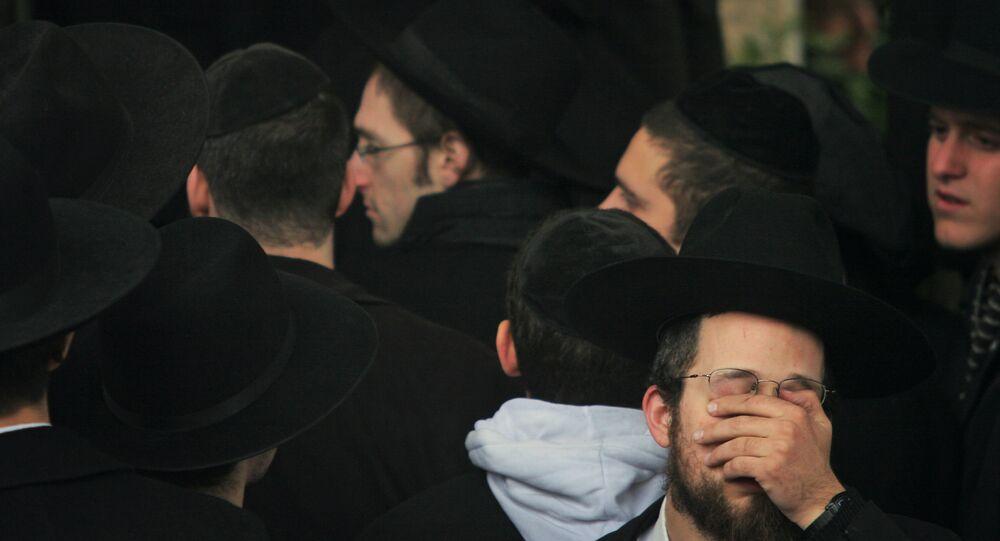 Jewish men in Poland. (file)
