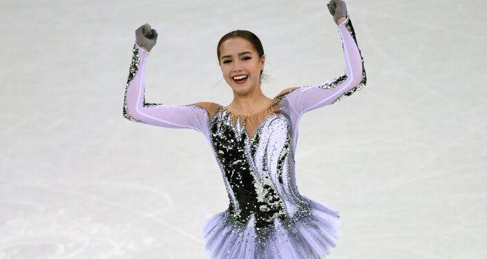 Russian figure skater Alina Zagitova