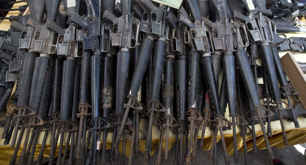 M-16 rifles (File)