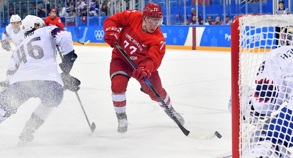 Russia's men's ice hockey team defeated the Norwegian team