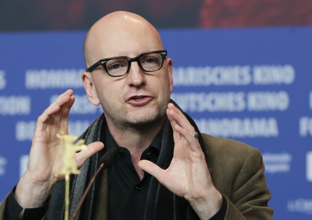 Director Steven Soderbergh attends a news conference for the film 'Unsane' during the 68th edition of the International Film Festival Berlin, Berlinale, in Berlin, Germany, Wednesday, Feb. 21, 2018.