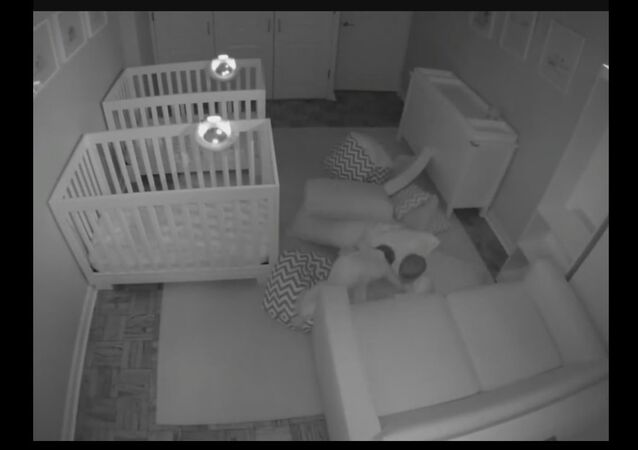 Twins Play Before Bedtime