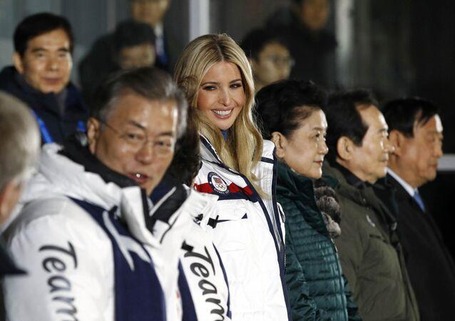 Pyeongchang 2018 Winter Olympics - Closing ceremony - Pyeongchang Olympic Stadium - Pyeongchang, South Korea - February 25, 2018 - U.S. President Donald Trump's daughter and senior White House adviser, Ivanka Trump during the closing ceremony