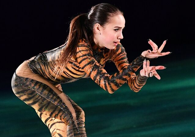 Russian figure skater Alina Zagitova during the exhibition gala at the XXIII Winter Olympic Games