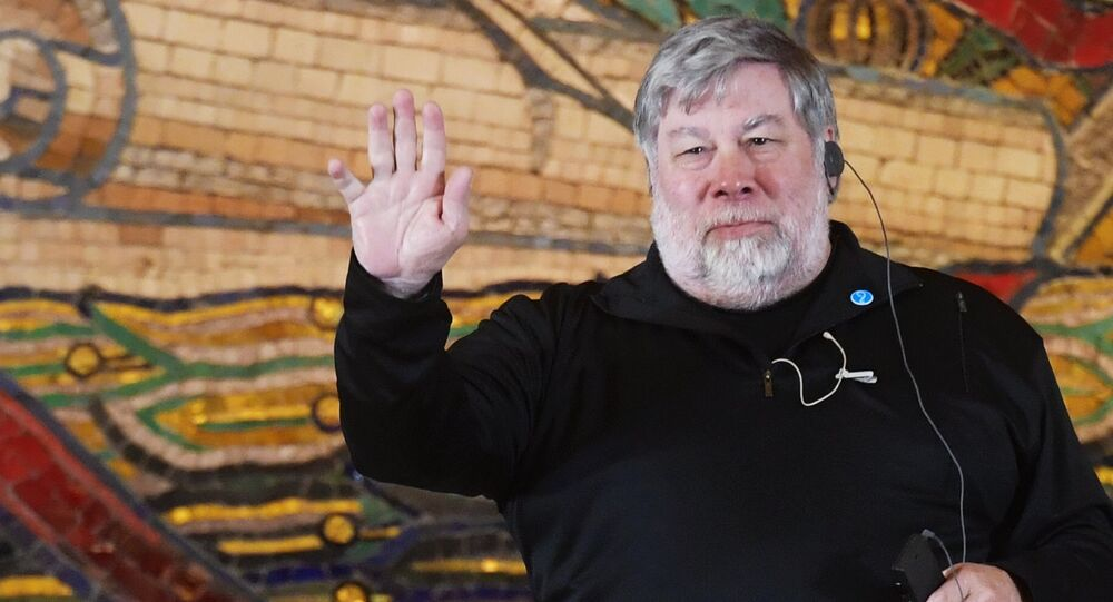 Steve Wozniak, US computer designer and businessman, co-founder of the Apple company (File)
