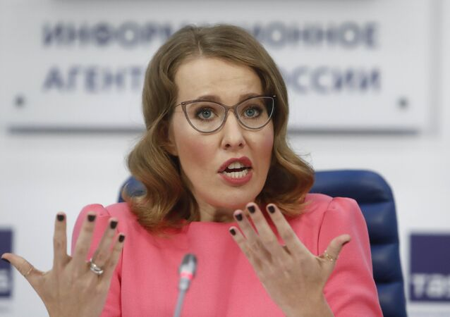 Candidate in the upcoming presidential election Ksenia Sobchak speaks during a news conference in Moscow, Russia February 20, 2018