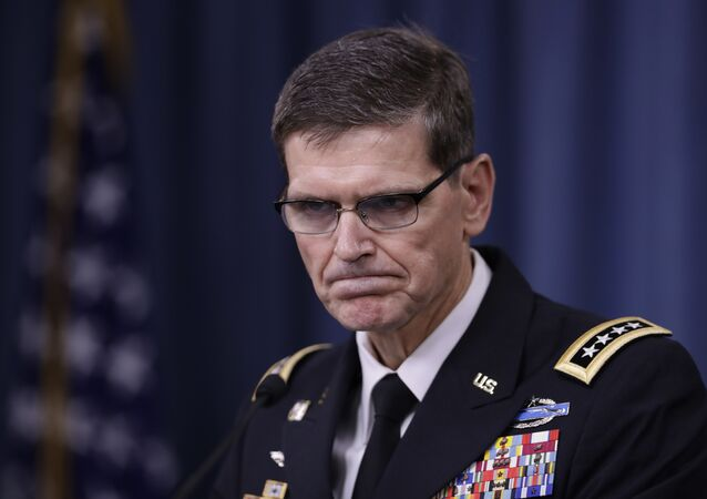 U.S. Central Command Command Commander, U.S. Army Gen. Joseph Votel, speaks to reporters at the Pentagon (File)