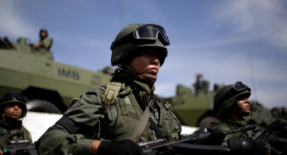 Venezuelan soldiers take part in the Zamora 200 military exercise in La Guaira