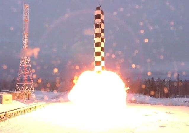 ICBM Sarmat test launch