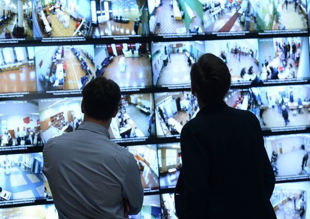 Broadcast of the images from the surveillance cameras installed at the voting stations, displayed at the Central Electoral Commission. File photo