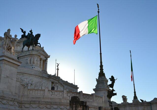 La bandiera dell'Italia