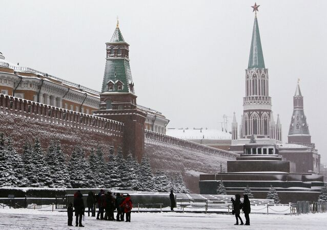 People on Red Square in Moscow