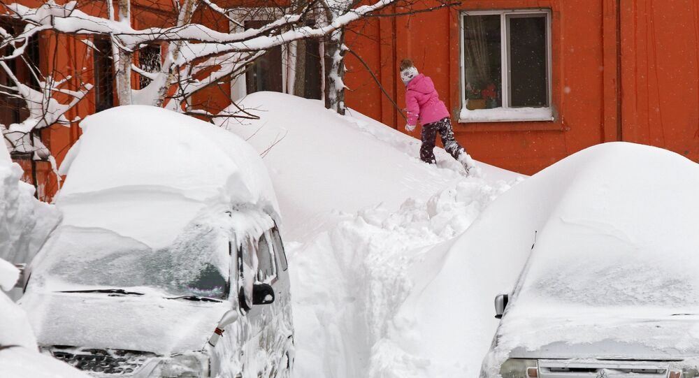 A child in Yuzhno-Sakhalinsk. File photo