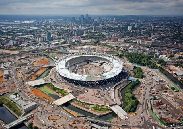 A handout photograph dated June 30, 2010, shows an aerial view of theOlympic Stadium and surrounding site, for the London 2010 Olympic and Paralympic Games in Stratford, east London
