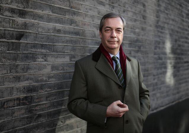 The former leader of Britain's UK Independence Party (UKIP), Nigel Farage (File)