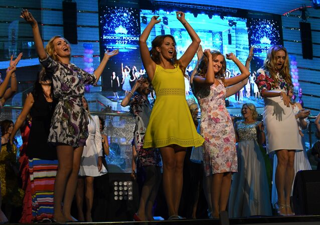 Participants in the finals of the Mrs. Russia 2017 nationwide beauty pageant in Moscow. File photo