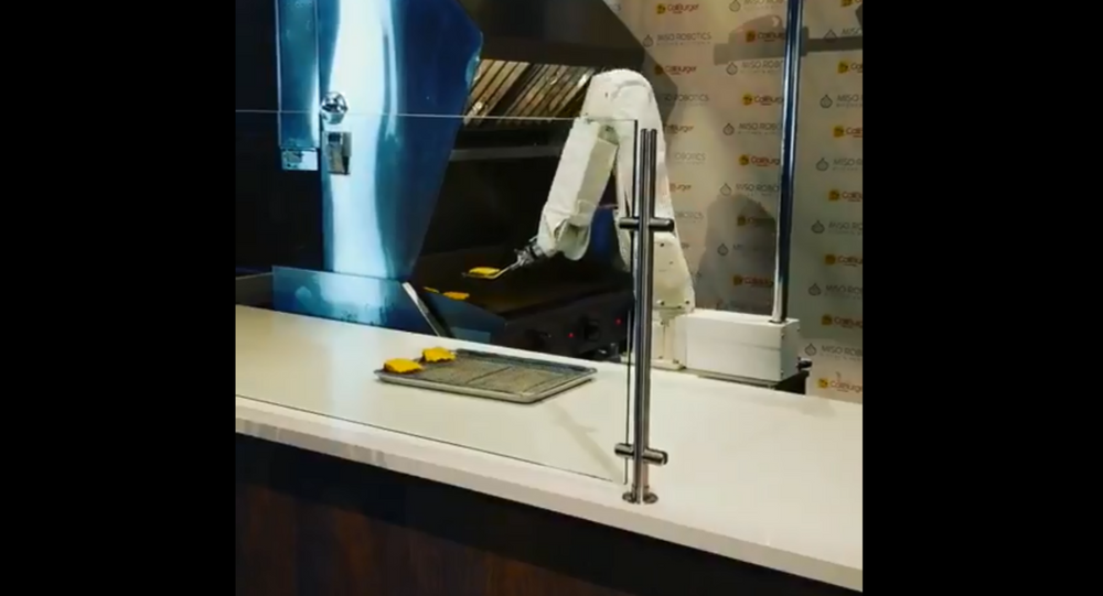 Flippy the burger-flipping robot starts working at CaliBurger in Pasadena, California