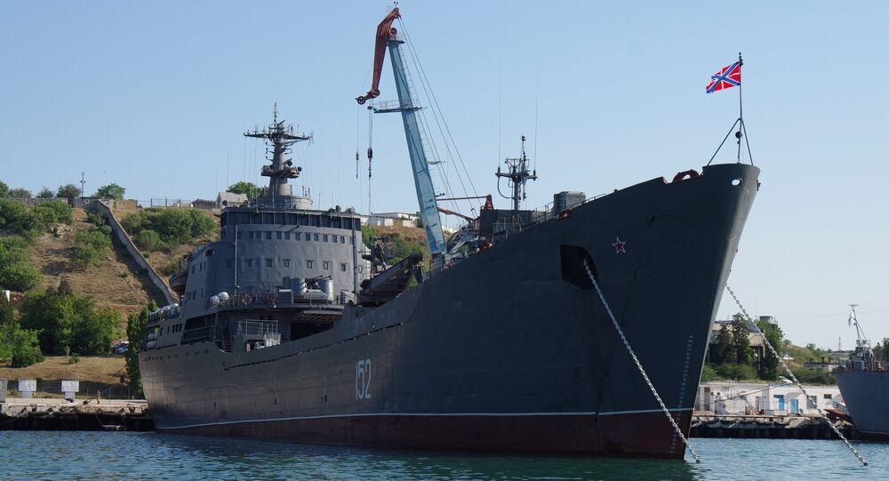 The Black Sea Fleet's landing craft Nikolai Filchenkov in Sevastopol