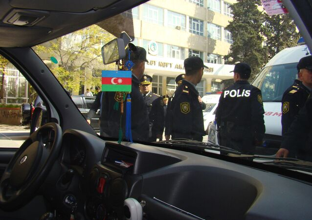 Azerbaijani police (file)