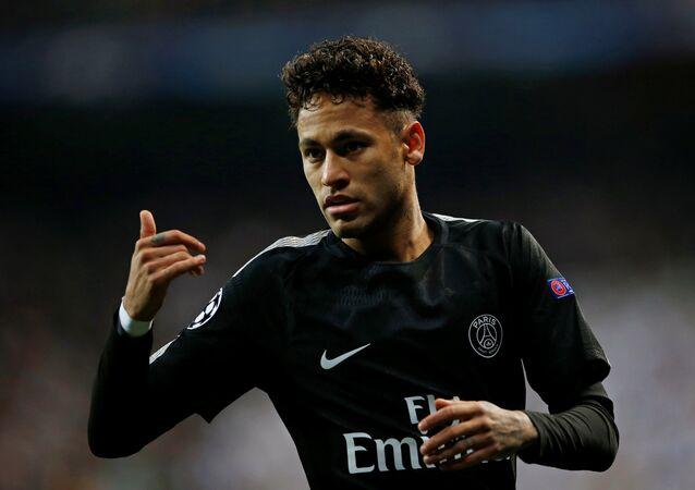 Soccer Football - Champions League Round of 16 First Leg - Real Madrid vs Paris St Germain - Santiago Bernabeu, Madrid, Spain - February 14, 2018 Paris Saint-Germain's Neymar