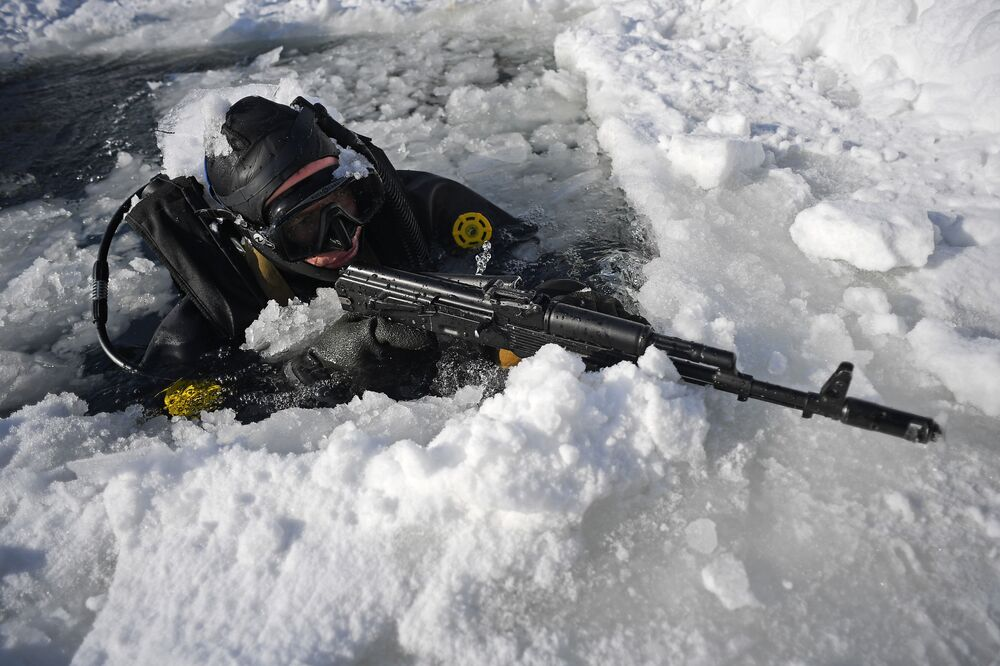 Winter Combat Drills of Russian National Guard's Special Forces