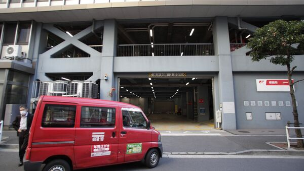 A mail delivery car returns to a post office in Tokyo (File) - Sputnik International