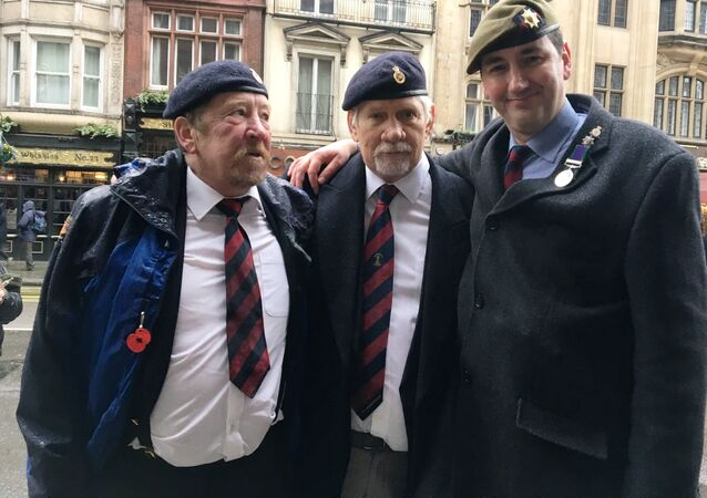 British Army veterans, members of the Justice for Northern Ireland Veterans group