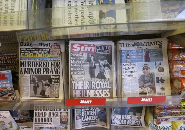 File Photo of UK Tabloids
