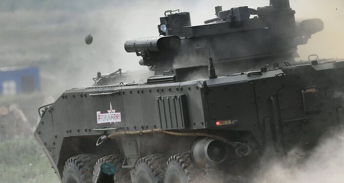 The K-17 'Bumerang' infantry fighting vehicle is seen here during a show of modern and prospective weaponry at the Army 2017 International Military-Technical Forum, Moscow Region.