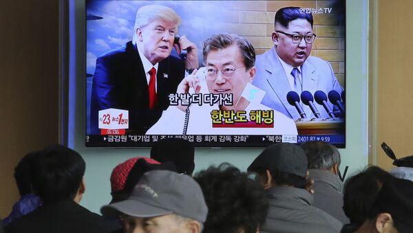 Trump Kim Moon - Sputnik International